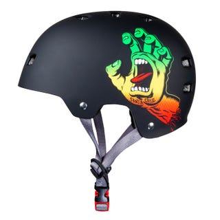 Santa Cruz Screaming Hand Adult Helmet Rasta