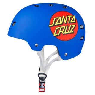 Santa Cruz UK Classic Dot Adult Helmet Matt Blue