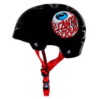Santa Cruz Eyeball Skateboard Helmet Black Gloss