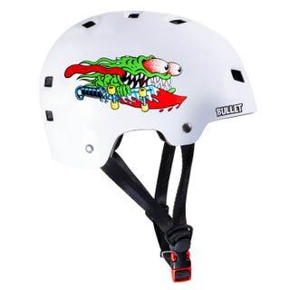 Santa Cruz Slasher Skateboard Helmet White Gloss