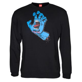Screaming hand crew seatshirt black.