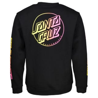 Santa Cruz Clothing - Opus Stripe Fade Crew Sweatshirt Black
