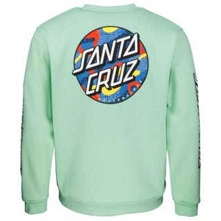 Santa Cruz Primary Dot Crew Mint
