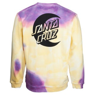 Santa Cruz Moon Dot Crew Yellow / Purple Fold Dye