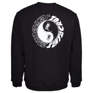 Santa Cruz Scream Ying Yang Crew Sweatshirt Black