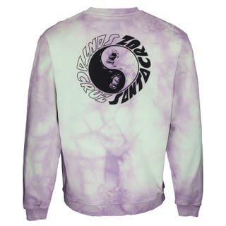 Santa Cruz Scream Ying Yang Crew Sweatshirt Trippy Cloud