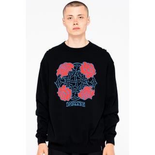 Santa Cruz Dressen Roses Club Knit Crew Black