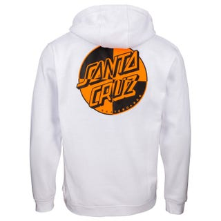 Santa Cruz Crash Dot Hoodie in White