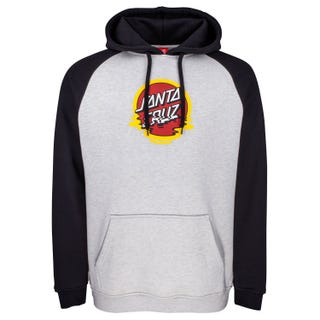 Santa Cruz Dot Reflection Hood Black / Athletic Heather