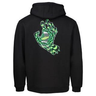 Santa Cruz Clothing - Kaleido Hand Hooded Sweatshirt Black