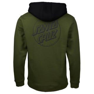 Santa Cruz Opus Dot Hooded Sweatshirt Military Green / Black