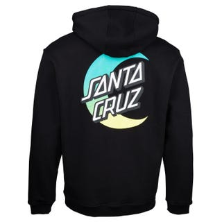 Santa Cruz Moon Dot Fade Hoodie Black
