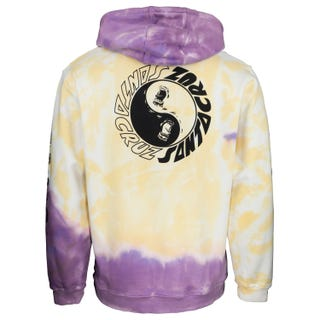 Santa Cruz Scream Ying Yang Hoodie Yellow/Purple Fold Dye