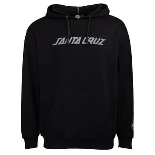 Santa Cruz Strip Chenille Hood Black