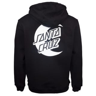 Santa Cruz Moon Dot Mono Hoodie Black
