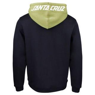 Santa Cruz Halo Zip Hooded Sweatshirt Black / Sage