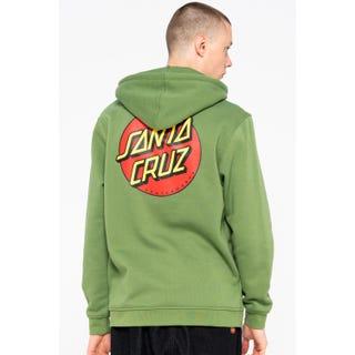 Santa Cruz Classic Dot Zip Hoodie Dill Green