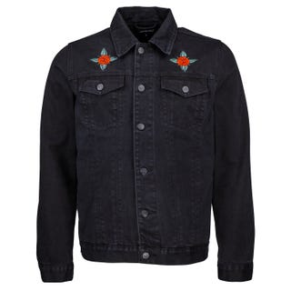 Santa Cruz Dressen Rose Kit Black Denim Jacket