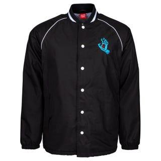 Screaming Hand Santa Cruz Stadium Coach Jacket in Black