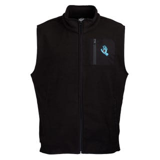 Santa Cruz Hand Polar Fleece Vest Black