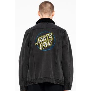 Santa Cruz Void Ring Dot Denim Jacket Black Wash