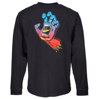Santa Cruz Fade Hand Long Sleeve T Shirt Black