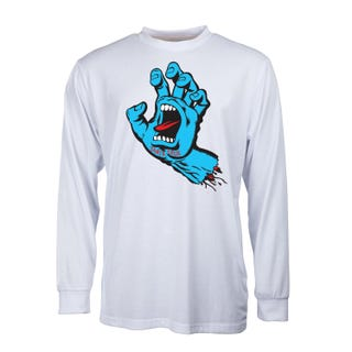 Santa Cruz Screaming Hand Long Sleeve T-Shirt White