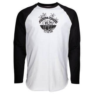 Santa Cruz Horizon L/S Baseball top black & white