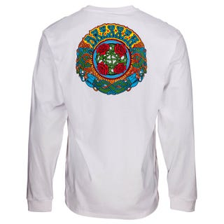Santa Cruz Clothing UK & EU - Dressen Roses L/S T-Shirt White