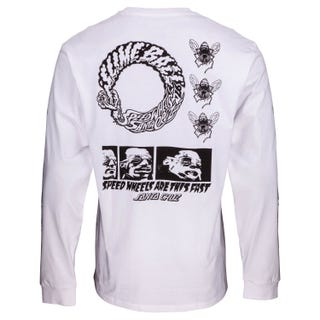 Santa Cruz Clothing UK & EU - This Fast Hoodie L/S T-Shirt White