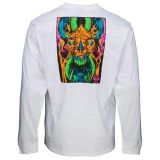 Santa Cruz Primeval Blacklight L/S T-Shirt White
