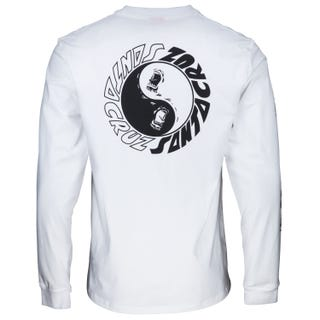 Santa Cruz Scream Ying Yang L/S T-Shirt White