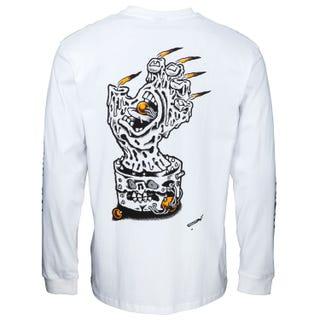Santa Cruz Digital Black Magic Hand L/S T-Shirt White