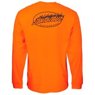 Oval Flame Dot Long L/S T-Shirt Safety Orange