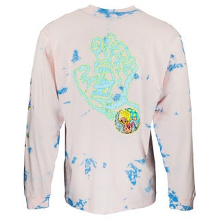 Smoke Signal L/S T-Shirt Pink/Blue | Santa Cruz UK