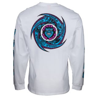 Santa Cruz Speed Wheels Faces L/S Tee White