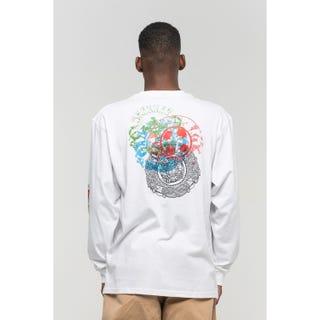 Santa Cruz Dressen Roses L/S T-Shirt White