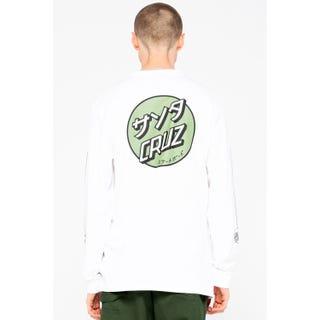 Santa Cruz Mixed Up Dot L/S T-Shirt White