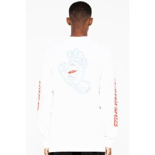 Santa Cruz Void Hand L/S T-Shirt White