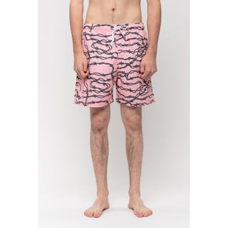 Santa Cruz Barbed Wire Swim Shorts Pink