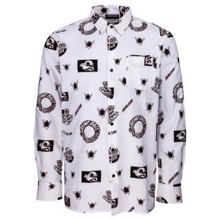 Santa Cruz Clothing UK & EU - This Fast Shirt White Twill