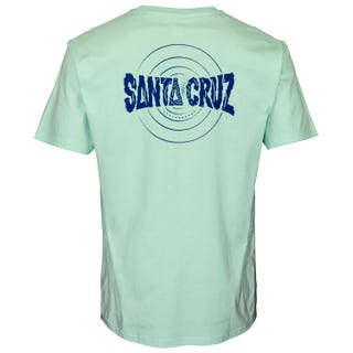Santa Cruz Clothing UK - Ripple T Shirt Ice Blue