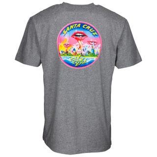 Santa Cruz T Shirt - Invade T-Shirt Dark Heather
