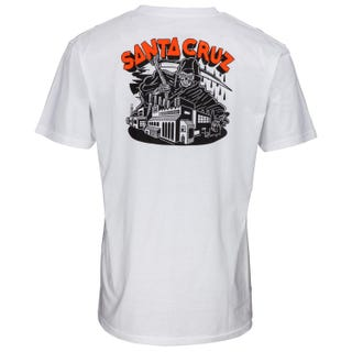 Santa Cruz Men's Fate Factory Tee White