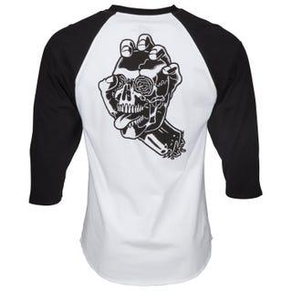 Santa Cruz Screaming Skull Baseball T-Shirt Black