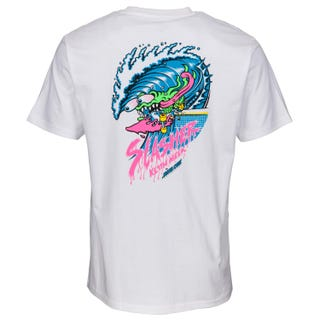 Santa Cruz Clothing UK & Europe - Wave Sllasher T-Shirt White