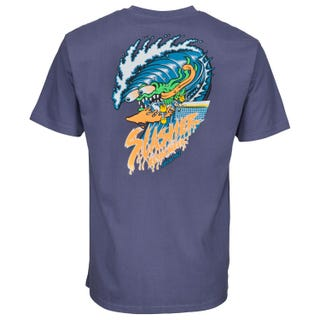 Santa Cruz UK Wave Slasher T-Shirt Vintage Navy