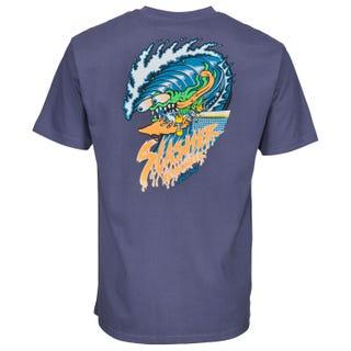 Santa Cruz UK Wave Slasher T-Shirt Vintage Navy