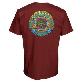 Santa Cruz Dressen Roses T-Shirt Brick