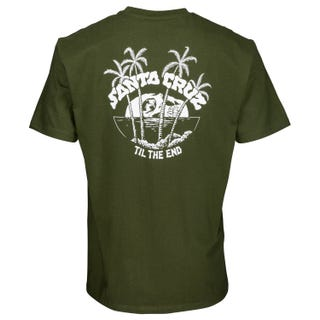 Santa Cruz Horizon T-Shirt Military Green
